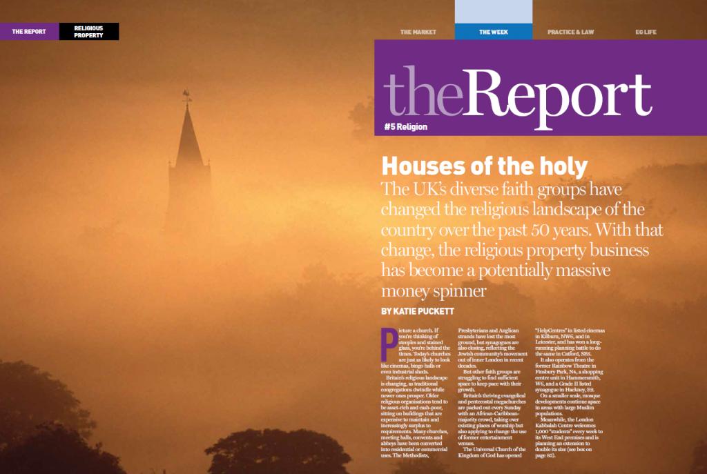 Special report on religious buildings for Estates Gazette